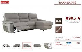 canapé d angle relax pas cher canapé d angle droit relax tobara simili et microfibre gris
