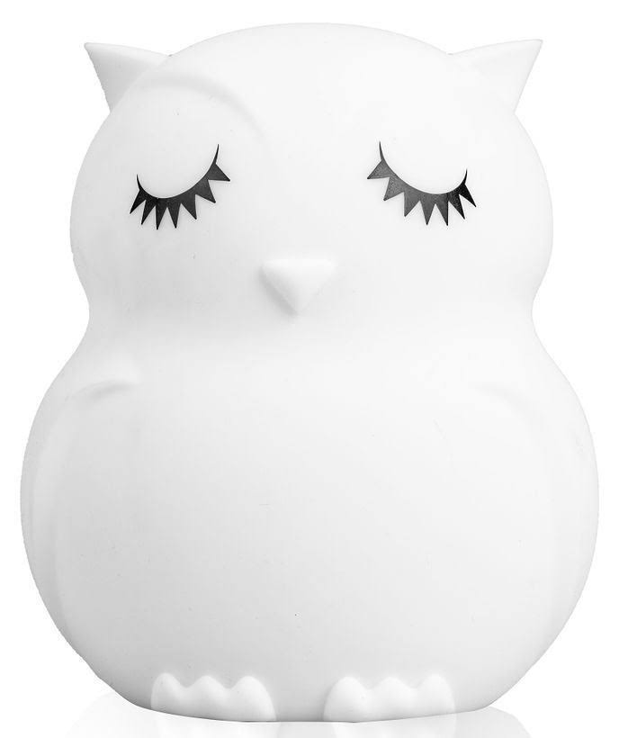 LumiPets LED Kids Night Light Lamp with Remote - Owl