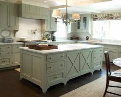 cabinets traditional kitchen softy green with kitchen island