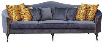 casa padrino luxus barock samt sofa blau dunkelbraun 280 x 90 x h 100 cm edles wohnzimmer sofa mit dekorativen kissen barock wohnzimmer möbel