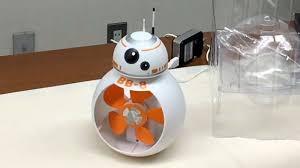 mini ventilateur de bureau wars le bb 8 se prend pour un ventilateur usb