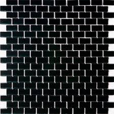 glass tile 5 8 inch black mirrored glass subway tile