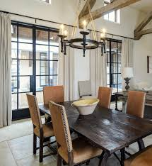 Rustic Wood Dining Table Room Contemporary With Antique