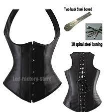 28 spiral steel boned underbust corset lace up satin waist cincher