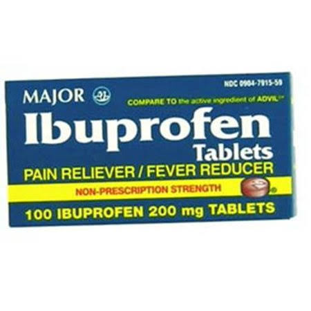 Major Ibuprofen Tablets, 200 mg, 100 Count