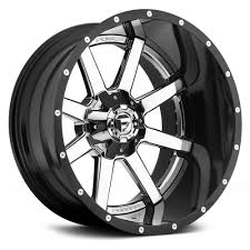 FUEL® - D260 MAVERICK 2PC CAST CENTER Black With Chrome Face   Cosas ... Fuel D239 Cleaver 2pc Gloss Black Milled Custom Truck Wheels Rims Offroad Wheel Collection Off Road Regarding Car Ford F150 On 2piece Rampage D247 California My Lifted Trucks Ideas Pinatubo By Rhino Utv Hostage Iii D568 Matte Anthracite With 18in Trophy Exclusively From Butler Tires