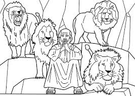 Print Coloring Daniel And The Lions Den Pages About