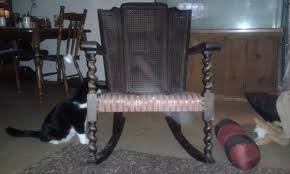 Laura's Antique, Barley Twist Rocking Chair With Vertical ...