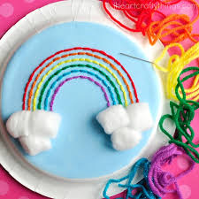 How To Make A Paper Plate Yarn Art Craft
