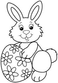 Easter Bunny With Eggs Coloring Pages
