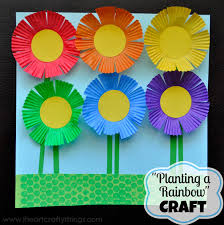Planting A Rainbow Flower Craft By I Heart Crafty Things