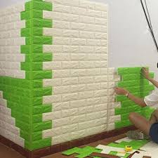 Creative PE Foam 3D Wall Stickers Safty Home Decor Wallpaper DIY Brick Protect Living
