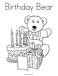 Full Size Of Coloring Pagebirthday Color Page Birthday Bear Png