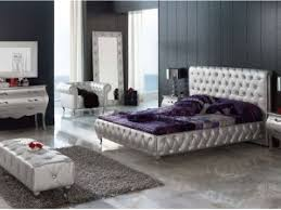 Luxurious Purple Black Silver Bedroom Ideas