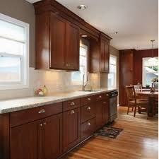 Kitchen Paint Colors With Light Cherry Cabinets by Cherry Kitchen Cabinets With Gray Wall And Quartz Countertops