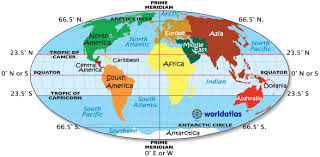 On The Map Shown And For That Matter All Other Maps Arctic Circle Antarctic Equator Prime Meridian Tropic Of Cancer