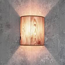 licht erlebnisse wandleuchte wandle stoffschirm holz optik halbrund loft schlafzimmer flur le kaufen otto