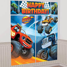 100 Monster Truck Theme Party Blaze And The Machines Wall Scene Setter Majors