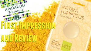Andalou Naturals Glycolic Mask Pumpkin Honey by Andalou Naturals Turmeric And Gold Clay Mask Review U0026 1st