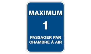 panneau de chambre maximum 1 passager sécuri sport