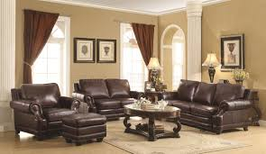 Primitive Living Room Furniture by 504961 Crawford Sofa In Brown Leather By Coaster W Options