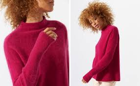 Knitted In Beautifully Soft Cashmere With A Specialist Wash To Give Fluffy Halo And Cosy Feel Whether Classic Black Rich Fuchsia Or Nordic Orange