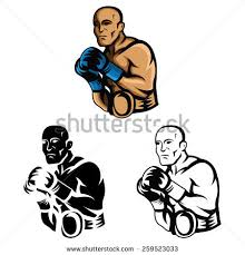 Coloring Book Boxer Cartoon Character