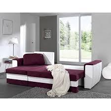 canapé d angle prune brugges canapé simili et tissu 4 places 241x140x86 cm prune