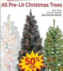 45 Pre Lit Christmas Tree by All Pre Lit Christmas Trees 50 Off At Fred U0027s On Black Friday