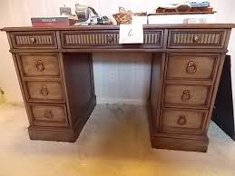 Sligh Lowry Desk Leather Top by Sligh Lowry Holland Michigan Knee Hole Desk With