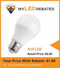 led rebates lighting light bulbs myledrebates