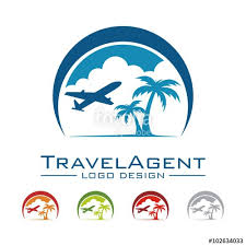 Logo Tour Travel And Plane Palm Land Cloud Crescent Design Create Business Card App