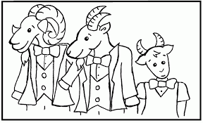Three Billy Goats Gruff Coloring Page Pages Pictures Id 75499 Popular Elvenpath