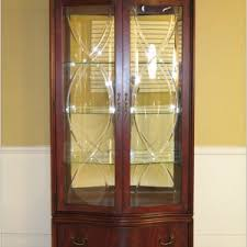 pulaski curved glass curio cabinet cabinet home decorating