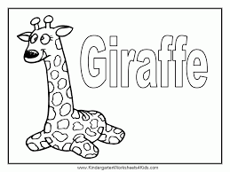 Coloring Pages Giraffe Printable Sheet Anbu