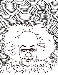 Scary Halloween Pumpkin Coloring Pages by Horror Movies Printable Coloring Pages Costume Supercenter Blog