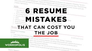 6 Resume Mistakes That Can Cost You The Job - Workopolis Blog Resume Preparation Data Entry Clerk Examples Free To Try Today Myperfectresume Cv And Guides Student Affairs Job Experience Past Present Tense Resume Help Past Or How Write A For Cabin Crew Position With Pictures What Is The Tense Of Write Quora Brilliant Ideas Of Fascating Action Verbs Rules Euronaidnl 21 Things Recruiters Absolutely Hate About Your College Templates High School Students 2019 Ask Run Amusing Or