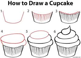 How to Draw a Cupcake Step by Step Drawing Tutorial with