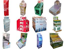 Creative Paper Material Display Product Quickly PDQ For Toys Advertising With Holes