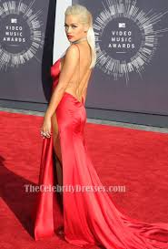 Evening Dresses Red Carpet by Rita Ora Red Backless Evening Dress Vmas 2014 Red Carpet