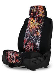 Wildfire Camo   Neoprene Low Back Seat Cover - Moon Shine Camo