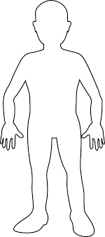 Human Body Outline For Kids And Adult At Coloring Page