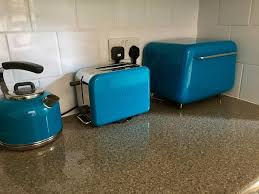 Turquoise Kmix Toaster Kenwood Kettle Typhoon Bread Bin