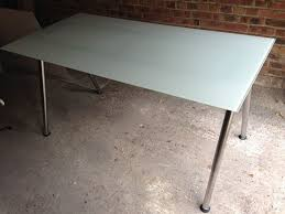 Ikea Galant Corner Desk Manual by Ikea Galant White Glass Top Desk With Chrome Legs In Sale