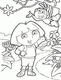 Dora The Explorer Nick Jr Coloring Pages