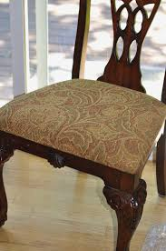 How Reupholster A Chair Cushion Ravishing Diy Reupholstering Dining Room Chairs Tomato Tango Upholstering Cushions After