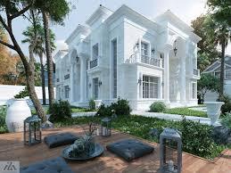 100 Villa House Design White Palace On Behance Facade House Classic House Design