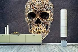 wandbilderxxl vlies fototapete happy skull 240x160cm