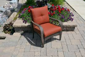 Menards Patio Furniture Cushions by Backyard Creations Orchard Valley Club Patio Chair At Menards