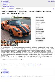 For $29,999, Could This Orange And Black 2005 Lotus Elise Have You ... Used Inventory Tesla Craigslist Sf Cars For Sale By Owner Motor 6500 Is This Triumph A Rock And Roll Machine Bay Area Becomes Top Spot In Nation Auto Theft Cbs San Francisco Vehicle Scams Google Wallet Ebay Motors Amazon Payments Tesla Updates Model 3 Spotted Twice This Week In Truck Depot Commercial Trucks North Hills The Car Database 25000 Pickup Cadillacamino Chicago Illinois Online Help For And 4995 Be Crierrageous Guide To Camping Berkeley